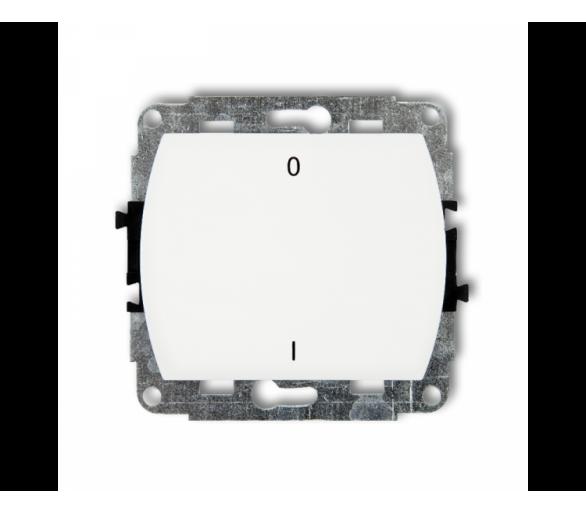 Mechanizm łącznika dwubiegunowego podświetlanego biały WP-9L