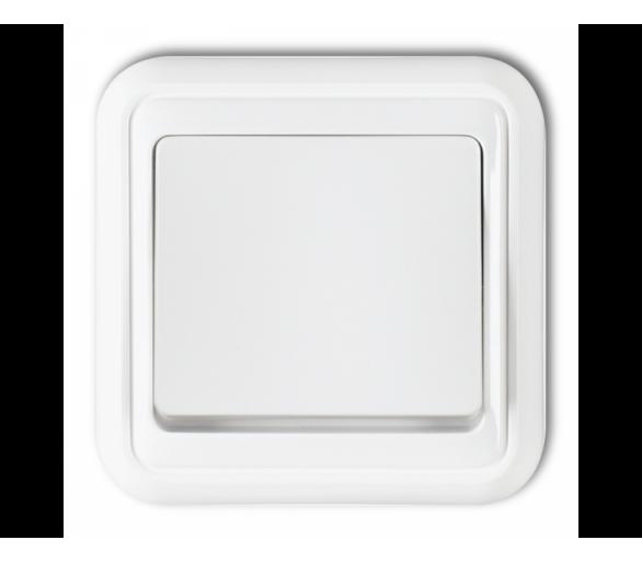Łącznik jednobiegunowy podświetlany biały WPT-1L