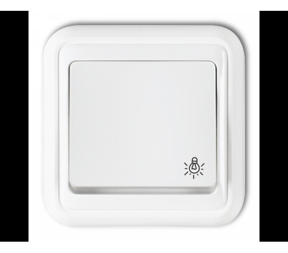 Łącznik zwierny światło podświetlany biały WPT-5L