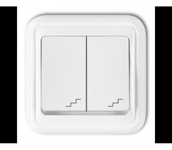 Łącznik podwójny schodowy biały WPT-7
