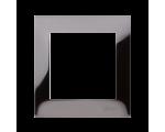 Ramka 1- krotna metalowa ciemna stal, metal DR1/67