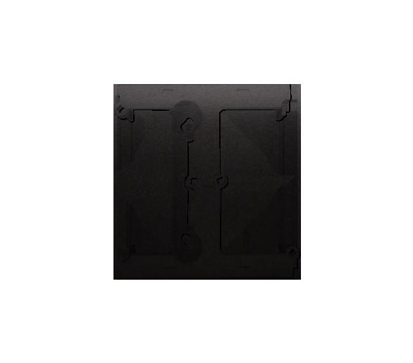 Puszka natynkowa – element rozszerzający puszkę pojedynczą składaną do ramek wielokrotnych antracyt, metalizowany