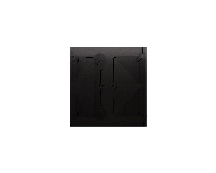Puszka natynkowa – element rozszerzający puszkę pojedynczą składaną do ramek wielokrotnych antracyt, metalizowany DSH/48