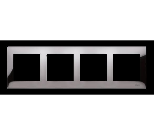 Ramka 4- krotna metalowa ciemna stal, metal DR4/67