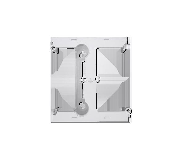 Puszka natynkowa – element rozszerzający puszkę pojedynczą składaną do ramek wielokrotnych biały DSH/11