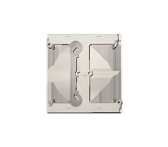 Puszka natynkowa – element rozszerzający puszkę pojedynczą składaną do ramek wielokrotnych kremowy DSH/41