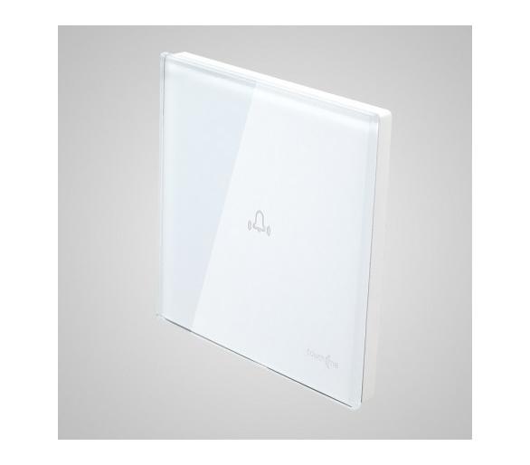 Duży panel dotykowy 86x86mm szklany, dzwonek, biały TM713w