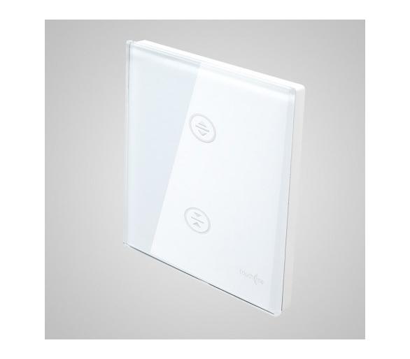 Duży panel dotykowy 86x86mm szklany, żaluzjowy, biały TM727w