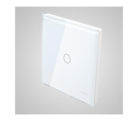Duży panel dotykowy 86x86mm szklany, łącznik pojedynczy, biały TM701w