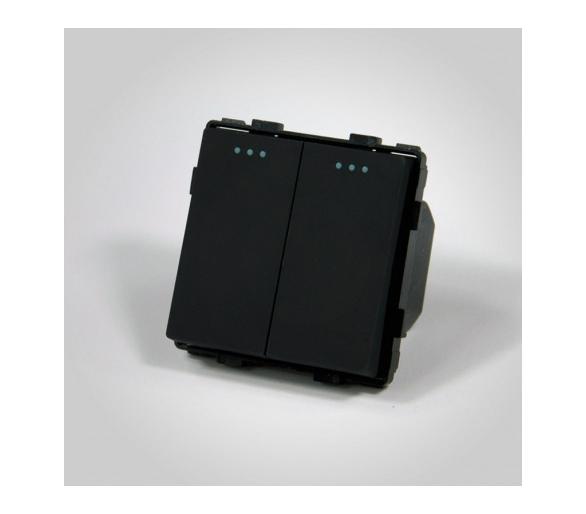 Mechanizm podwójny schodowy / łącznik podwójny schodowy czarny ME605B