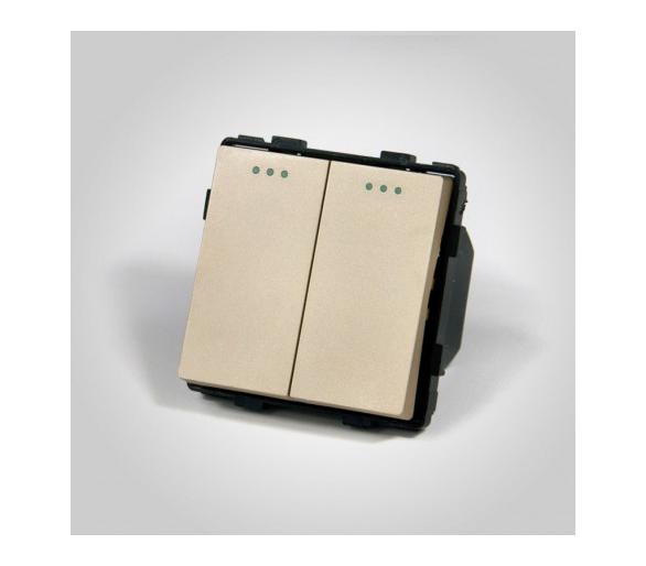 Mechanizm podwójny schodowy / łącznik podwójny schodowy złoty ME605G