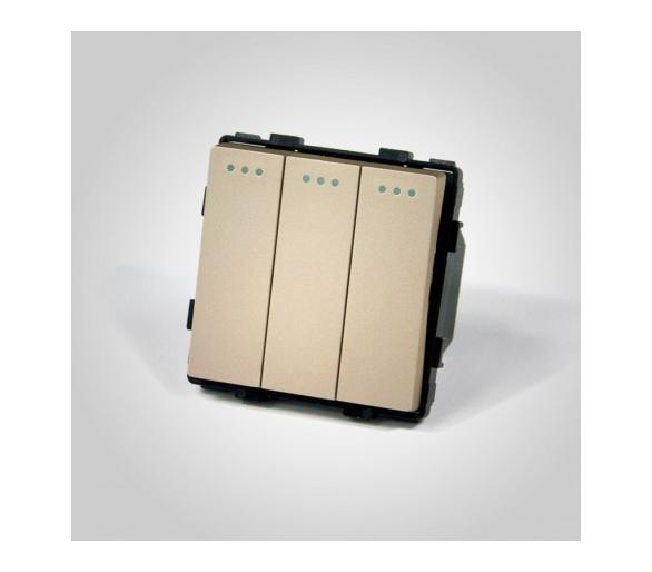 Mechanizm potrójny / łącznik potrójny złoty ME607G