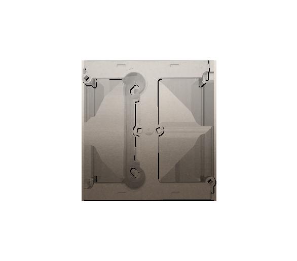 Puszka natynkowa – element rozszerzający puszkę pojedynczą składaną do ramek wielokrotnych złoty mat, metalizowany