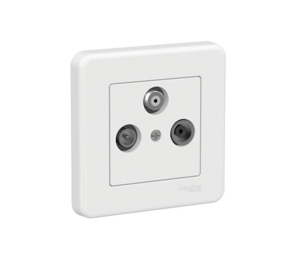 Gniazdo TV-R-SAT, biały LNA3504221