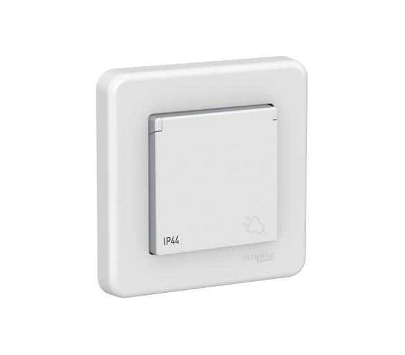 Gniazdo 2P+PE IP44, biały LNA2800521