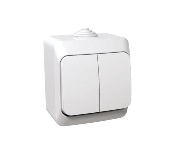 Łącznik świecznikowy z podświetleniem IP44 biały WDE000551
