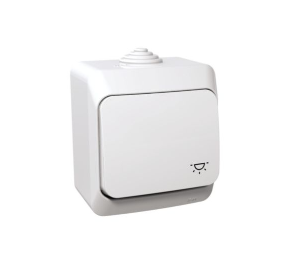 Przycisk światło IP44 biały WDE000513
