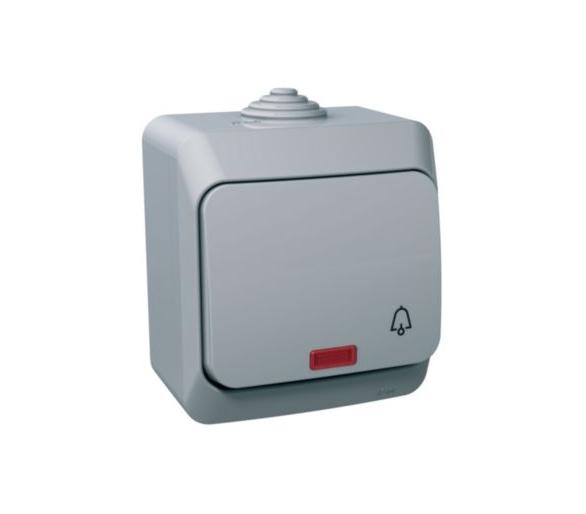 Przycisk dzwonek IP44 szary WDE000615