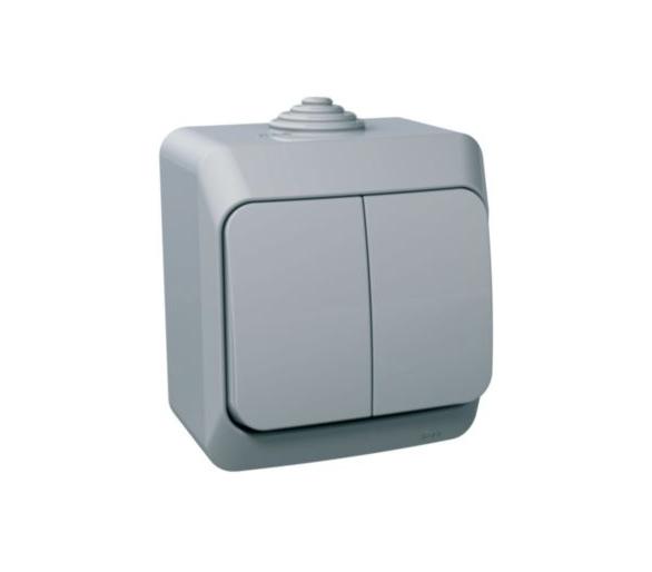 Łącznik świecznikowy z podświetleniem IP44 szary WDE000651