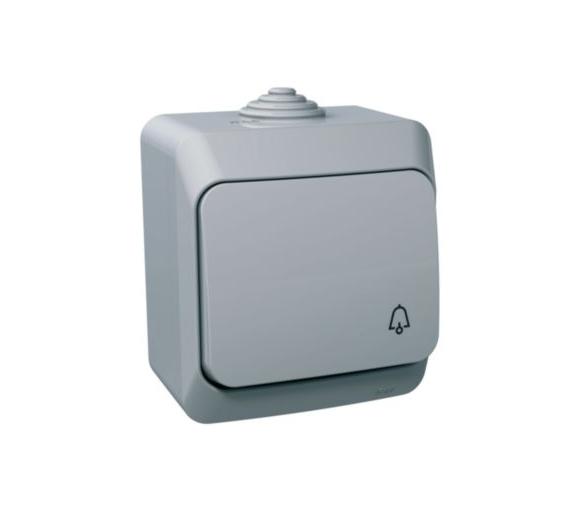 Przycisk dzwonek IP44 szary WDE000612