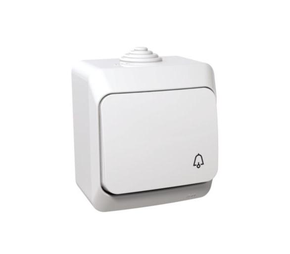 Przycisk dzwonek IP44 biały WDE000512