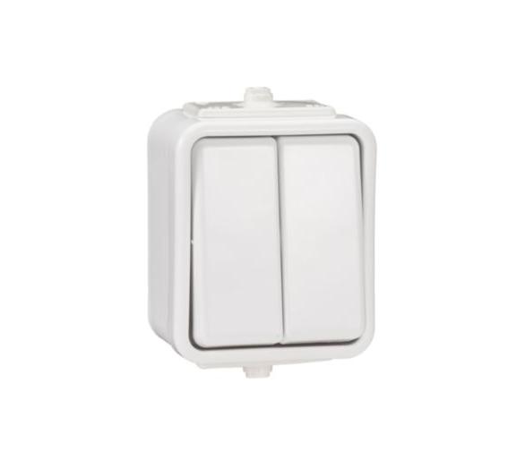 Łącznik świecznikowy z podświetleniem IP44 biały WNT500CS01