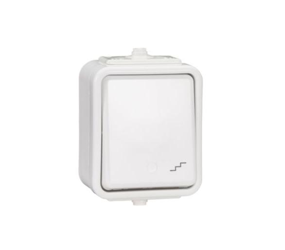 Łącznik schodowy IP44 biały WNT600C01