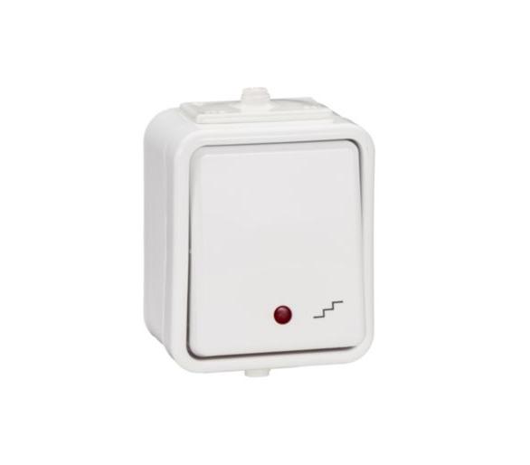 Łącznik schodowy z podświetleniem IP44 biały WNT600CS01