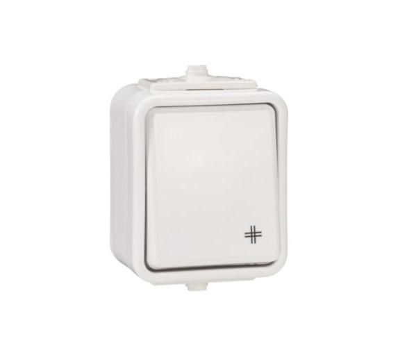 Łącznik krzyżowy IP44 biały WNT700C01