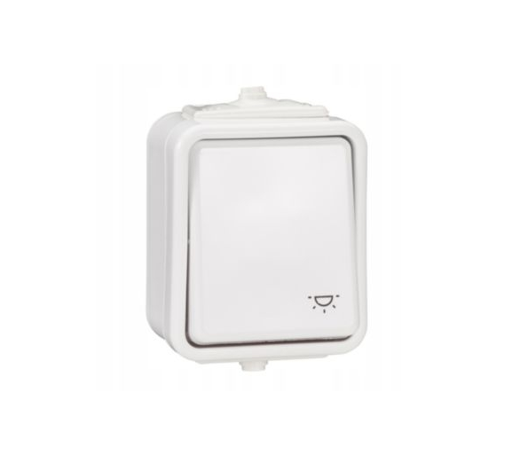 Przycisk światło IP44 biały WNT102C01