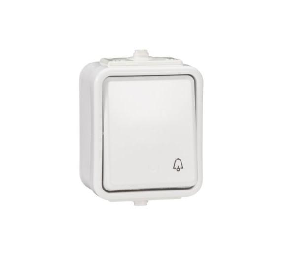 Przycisk dzwonek IP44 biały WNT101C01