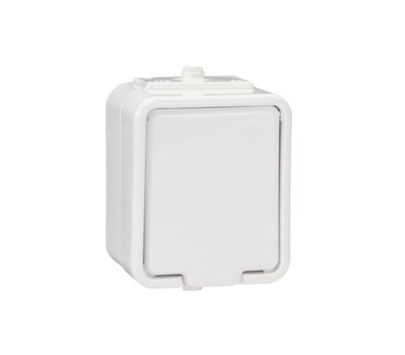 Gniazdo pojedyncze 2P+PE IP44 biały NT130H01