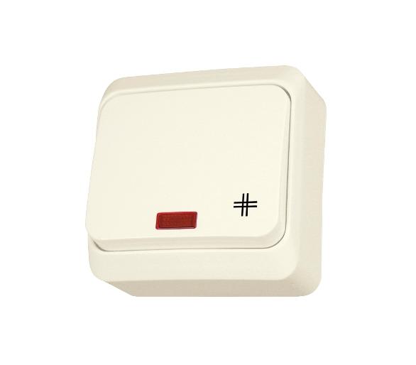 Łącznik krzyżowy z podświetleniem beż WDE001171
