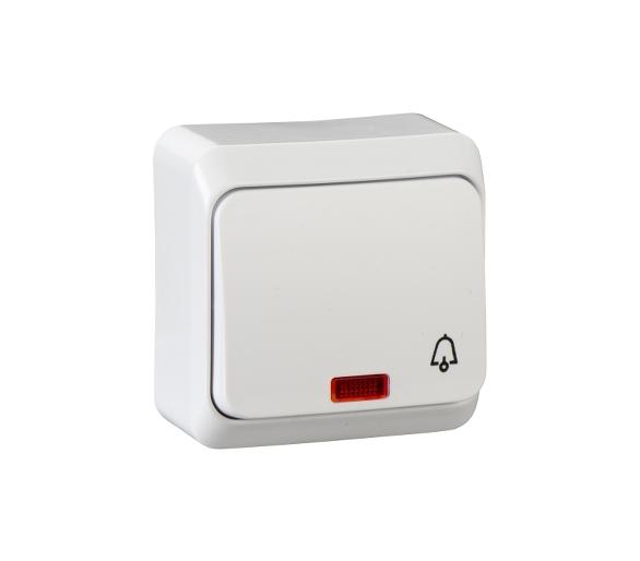 Przycisk dzwonek z podświetleniem biały WDE001015