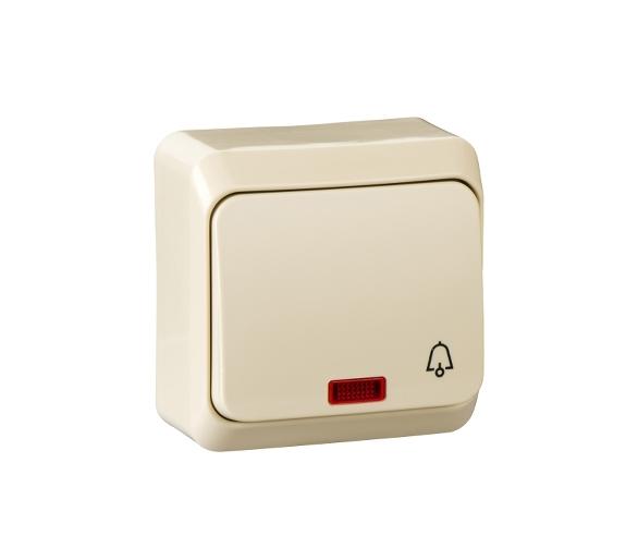 Przycisk dzwonek z podświetleniem beż WDE001115