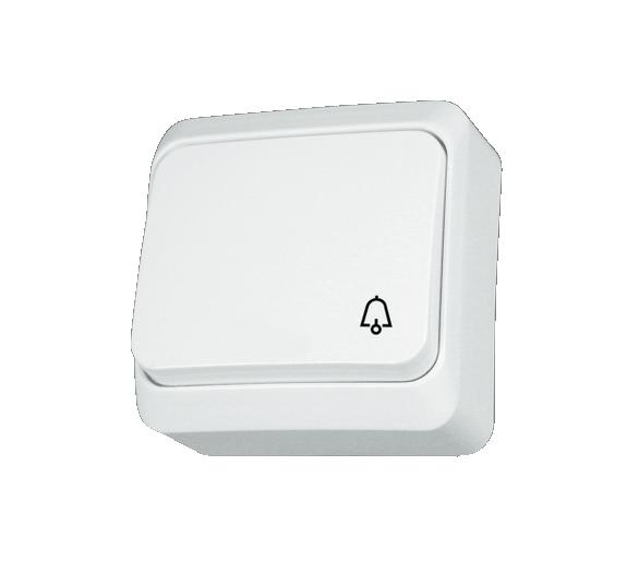 Przycisk dzwonek biały WDE001012