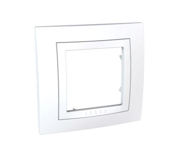 Unica, ramka 1-krotna Basic, biała MGU2.002.18