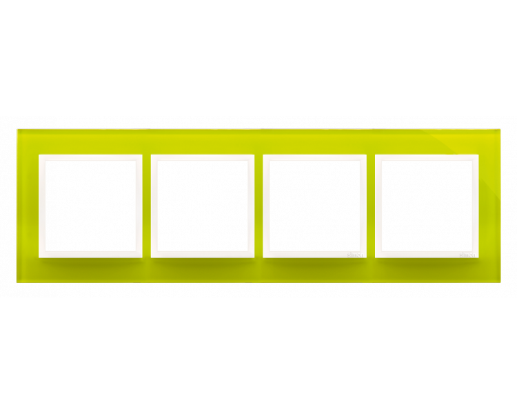 Ramka 4- krotna szklana limonkowy sorbet DRN4/90