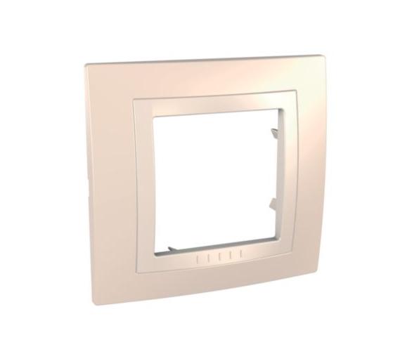 Unica, ramka 1-krotna Basic, kremowo/piaskowa MGU2.002.559
