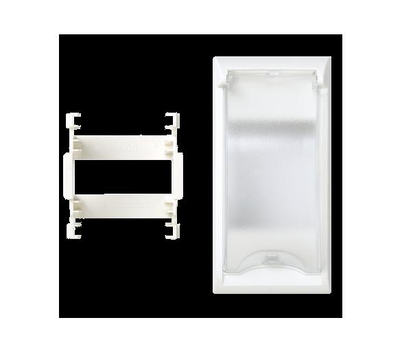 Płytka z pokrywą SIMON 500 do aparatury 2-polowej 100×50mm czysta biel 50000074-030