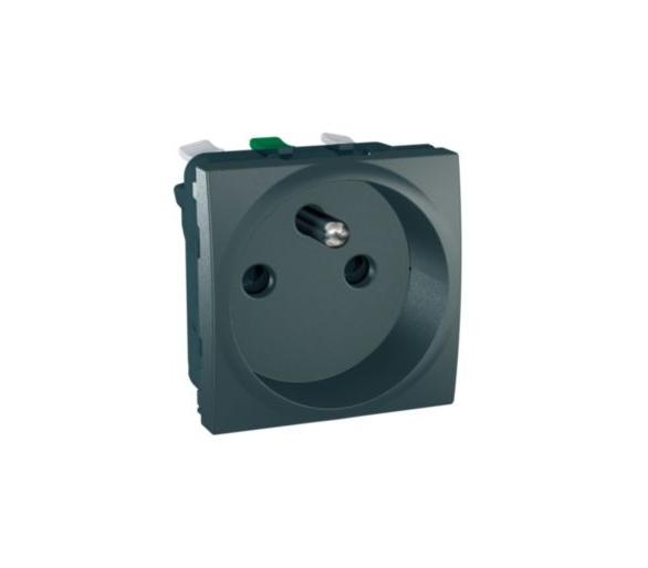 Class Gniazdo pojedyncze 2P+PE bez ramki montażowej grafit MGU3.059.12