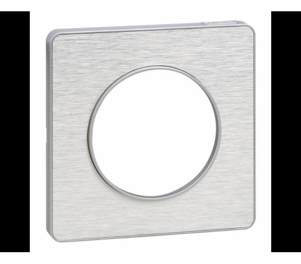 Ramka 1-krotna,  inox aluminium S53P802J