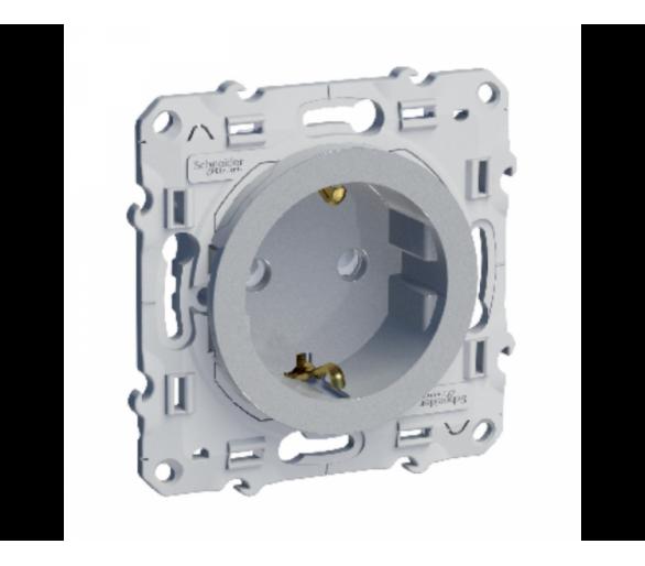 Gniazdo schuko zaciski śrubowe, biały S530037