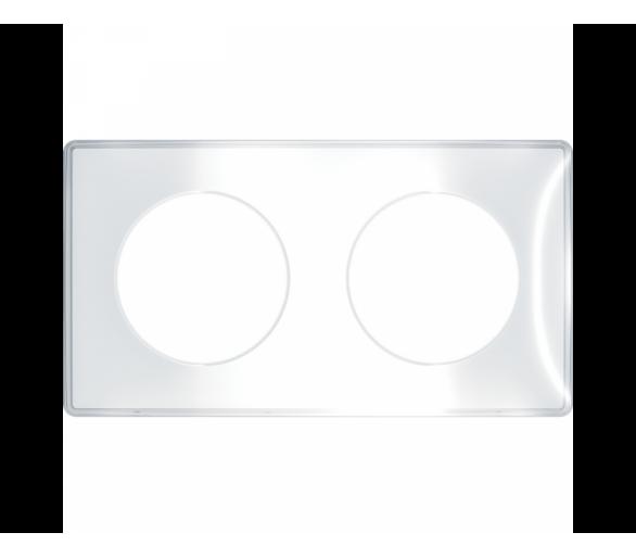 Ramka 2-krotna, przezroczysta S52P904W