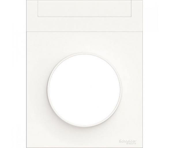 Ramka 1-krotna z etykietką, biały S52P732