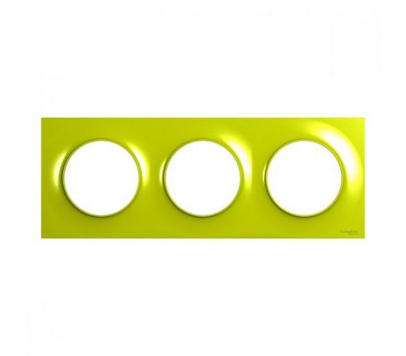 Ramka 3-krotna, zielony verde S52P706H