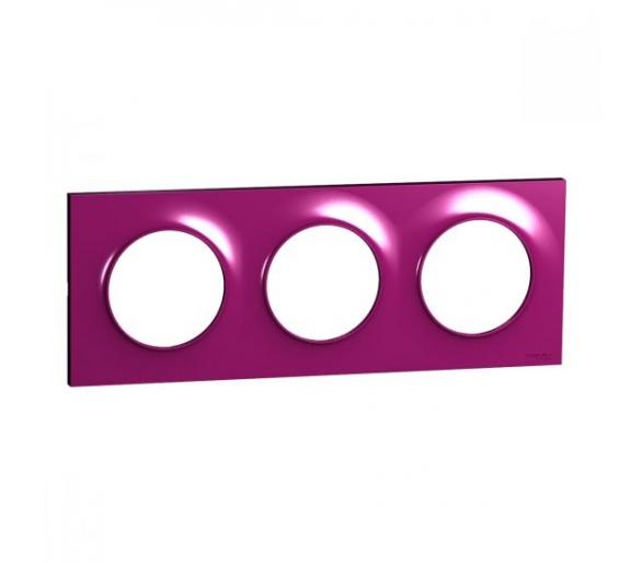 Ramka 3-krotna, purpurowy S52P706D