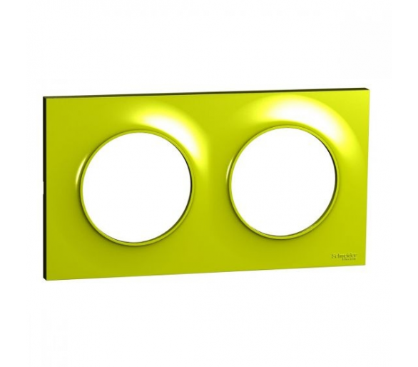 Ramka 2-krotna, zielona verde S52P704H