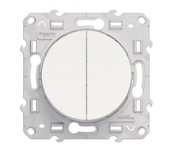 Łącznik schodowy podwójny, biały S52D213