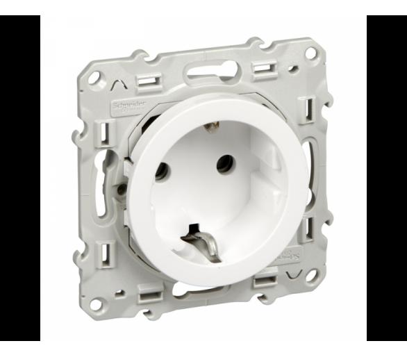 Gniazdo schuko zaciski śrubowe, biały S520037